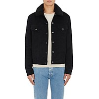 Acne Studios Men's Beat P Cotton Blend Corduroy Jacket Blue