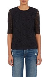 Barneys New York Women's Guipure Lace Blouse Black