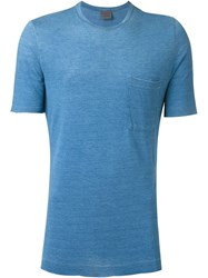 Laneus Patch Pocket T Shirt Blue
