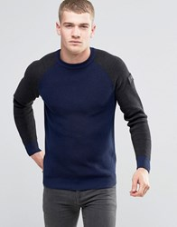 G Star Core Raglan Knit Long Sleeve Asfalt Grey