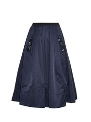 Muveil Embellished Pocket Midi Skirt