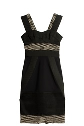 Jonathan Simkhai Lace Combo Dress Black