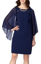 Tahari Women's Cape Sleeve Shift Dress