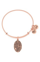 Women's Alex And Ani 'I Love You Grandmother' Expandable Wire Bangle Rose Gold