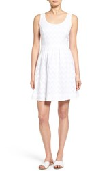 Vineyard Vines Women's Jacquard Scoop Neck Dress White Cap