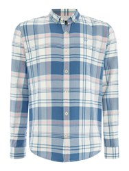 Duck And Cover Huffman Ls Shirt Petrol