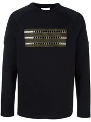 Les Benjamins Applique Detail Sweatshirt Black