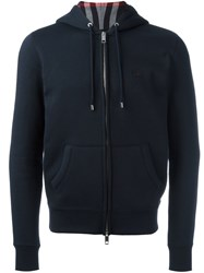 Burberry Classic Zip Up Hoodie Blue