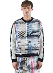 James Long Multi Coloured Woven Front Sweater Black