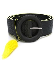 Orciani Rabbit's Paw Effect Belt Black