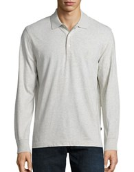 Nautica Slim Fit Long Sleeve Polo Oatmeal Heather