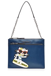 Karl Lagerfeld Choupette On The Beach Shoulder Bag Blue