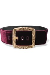 Saint Laurent Velvet Waist Belt Burgundy