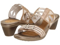 Naot Footwear Afrodita Champagne Dusty Silver Quartz Leather Women's Sandals