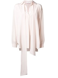 Chloe Neck Scarf Blouse Nude And Neutrals