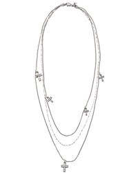 Emanuele Bicocchi Cross Pendant Chain Necklace Metallic
