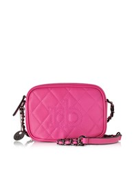 Roccobarocco Rb Cassata Quilted Leather Crossbody Bag Fuchsia