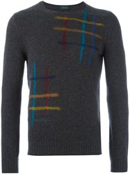 Zanone Paintbrush Detail Jumper Grey