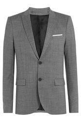 The Kooples Slim Wool Blazer Grey
