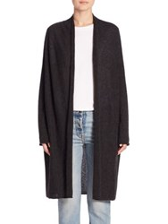The Row Edythe Cashmere And Silk Cardigan Charcoal Melange