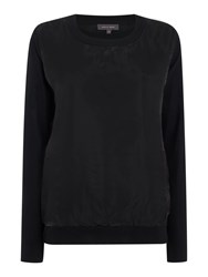 Pied A Terre Echo Shell Jumper Black