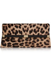 Diane Von Furstenberg 440 Envelope Leopard Print Calf Hair Clutch Animal Print