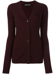 Rochas Ribbed Cardigan Red