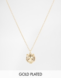 Bill Skinner Gold Plated Tiger Pendant Necklace