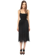 Red Valentino Fit And Flare Tank Knit Dress Black