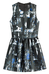 Mcq By Alexander Mcqueen Mcq Alexander Mcqueen Printed Dress Blue