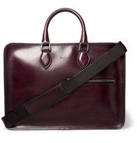 Berluti Deux Jours Polished Leather Briefcase Red