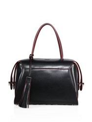 Tod's Bauletto Leather Satchel Black