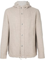 Brunello Cucinelli Hooded Coat Nude And Neutrals
