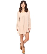 Rock And Roll Cowgirl Long Sleeve Dress D4 8248 Tan Women's Dress