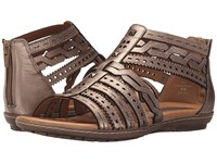 Earth Bay Champagne Metallic Leather Women's Sandals Beige