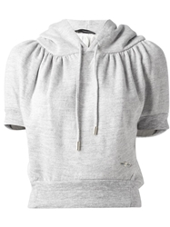 Dsquared2 Cropped Cocoon Sweatshirt Grey