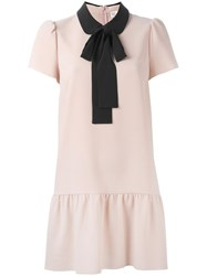 Red Valentino Pussy Bow Dress Nude Neutrals