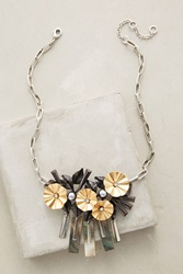 Gerard Yosca Bedecked Bib Necklace Silver