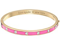 Kate Spade Set In Stone Enamel Stone Hinged Bangle Clear Flo Pink