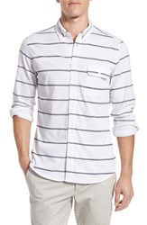 Men's French Connection 'Power Lines' Trim Fit Stripe Jersey Sport Shirt