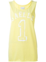 Gaelle Bonheur Logo Print Tank Top Yellow And Orange