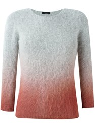 Roberto Collina Degrade Knit Sweater Grey