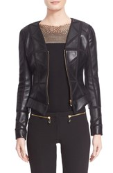 Women's Versace Collection Leather Trim Jacket