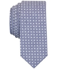 Penguin Men's Marshall Star Print Slim Tie Navy