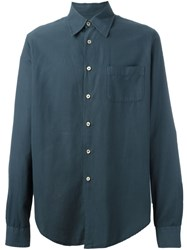 Romeo Gigli Vintage Patch Pocket Shirt Blue