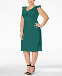 Love Squared Trendy Plus Size Ruffled Bodycon Dress Teal