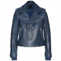 Marc By Marc Jacobs Leather Biker Jacket Deep Blue