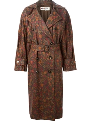 Yves Saint Laurent Vintage Floral Print Trench Coat