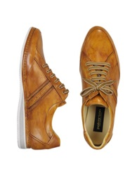 Pakerson Signature Mustard Yellow Leather Sneaker Shoes