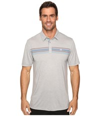 Travis Mathew Cass Polo Heather Griffin Men's Clothing Gray